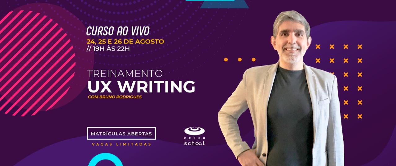 Treinamento UX Writing - ao vivo