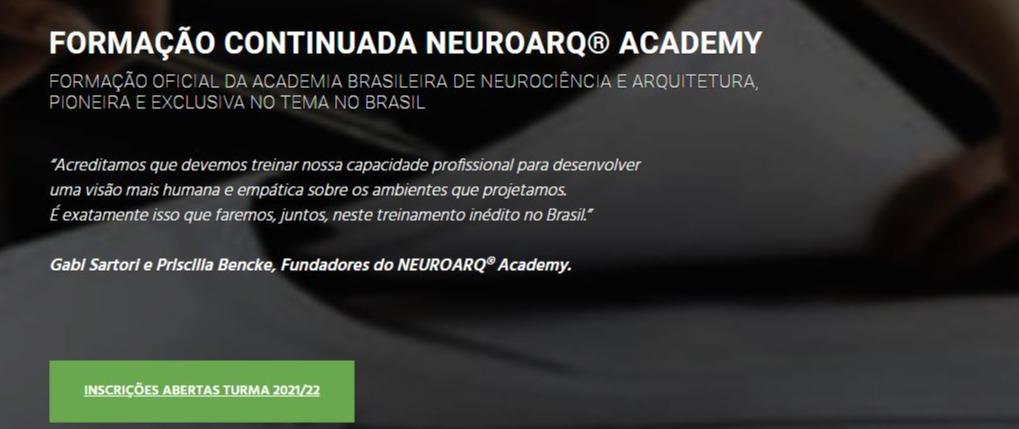 FORMAÇÃO CONTINUADA NEUROARQ® ACADEMY