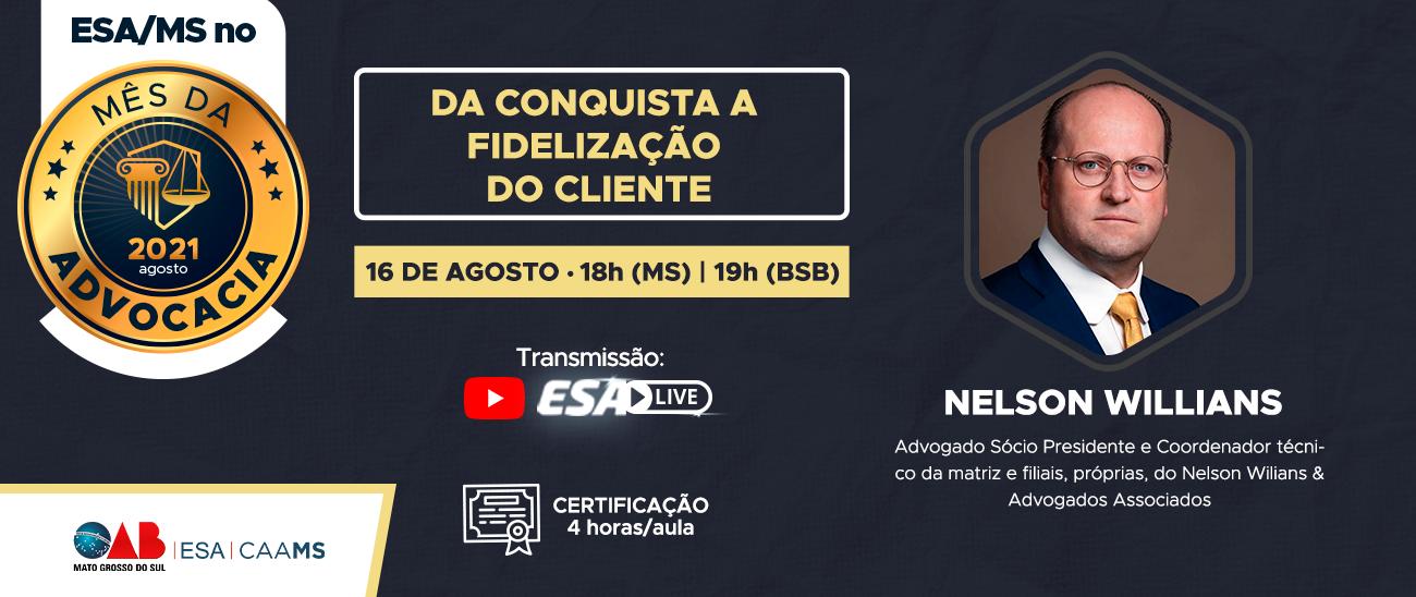 ESA LIVE NO MÊS DA ADVOCACIA 16/08
